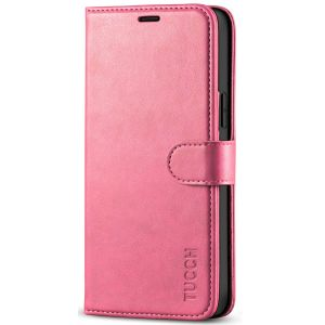 TUCCH iPhone 12 Wallet Case, iPhone 12 Pro Case, iPhone 12 / Pro 5G 6.1-inch Flip Case - Hot Pink