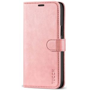 TUCCH iPhone 12 /5G Wallet Case, iPhone 12 Pro /5G 6.1-inch Flip Case - Rose Gold