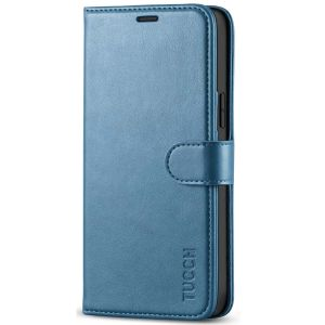TUCCH iPhone 12 / Pro Wallet Case, iPhone 12 / Pro 5G 6.1-inch Flip Case - Light Blue