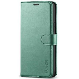 TUCCH iPhone 12 5G Wallet Case, iPhone 12 Pro 6.1-inch 5G Flip Case - Myrtle Green