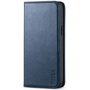 TUCCH iPhone 12 Wallet Case, iPhone 12 Pro Wallet Case, Flip Cover with Stand, Credit Card Slots, Magnetic Closure for iPhone 12 / Pro 6.1-inch 5G Blue