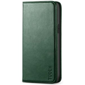TUCCH iPhone 12 Wallet Case, iPhone 12 Pro Wallet Case, Flip Cover with Stand, Credit Card Slots, Magnetic Closure for iPhone 12 / Pro 6.1-inch 5G Myrtle Green