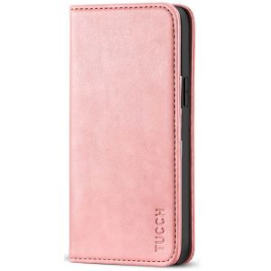 TUCCH iPhone 12 Wallet Case, iPhone 12 Pro Wallet Case, Flip Cover with Stand, Credit Card Slots, Magnetic Closure for iPhone 12 / Pro 6.1-inch 5G Rose Gold