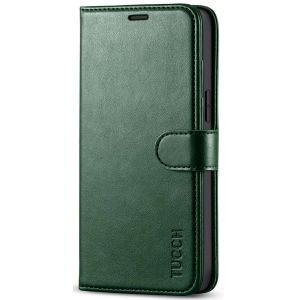 TUCCH iPhone 12 Pro Max Wallet Case, iPhone 12 Pro Max 6.7-inch Flip Case - Midnight Green