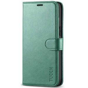 TUCCH iPhone 12 Pro Max Wallet Case, iPhone 12 Pro Max 6.7-inch Flip Case - Myrtle Green