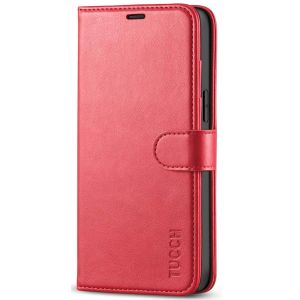 TUCCH iPhone 12 Pro Max Wallet Case, iPhone 12 Pro Max 6.7-inch Flip Case - Red