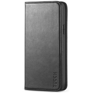 TUCCH iPhone 12 Pro Max Wallet Case, iPhone 12 Pro Max Leather Case, Flip Cover with Stand, Credit Card Slots, Magnetic Closure for iPhone 12 Pro Max 6.7-inch 5G Black