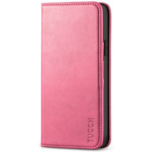 TUCCH iPhone 12 Pro Max Wallet Case, iPhone 12 Pro Max PU Leather Case, Flip Cover with Stand, Credit Card Slots, Magnetic Closure for iPhone 12 Pro Max 6.7-inch 5G Hot Pink