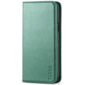 TUCCH iPhone 12 Pro Max Wallet Case, iPhone 12 Pro Max PU Leather Case, Flip Cover with Stand, Credit Card Slots, Magnetic Closure for iPhone 12 Pro Max 6.7-inch 5G Myrtle Green