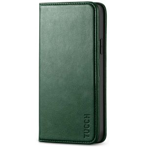 TUCCH iPhone 12 Pro Max Wallet Case, iPhone 12 Pro Max PU Leather Case, Flip Cover with Stand, Credit Card Slots, Magnetic Closure for iPhone 12 Pro Max 6.7-inch 5G Midnight Green