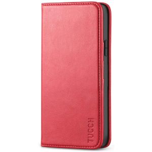 TUCCH iPhone 12 Pro Max Wallet Case, iPhone 12 Pro Max PU Leather Case, Flip Cover with Stand, Credit Card Slots, Magnetic Closure for iPhone 12 Pro Max 6.7-inch 5G Red