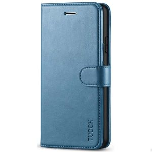 TUCCH iPhone 7 Wallet Case, iPhone 8 Case, Premium PU Leather Case - Lake Blue