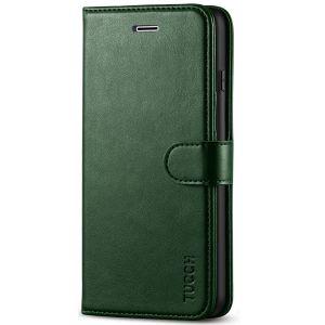 TUCCH iPhone 8 Plus Wallet Case, iPhone 7 Plus Case, Premium PU Leather Flip Folio Case - Midnight Green