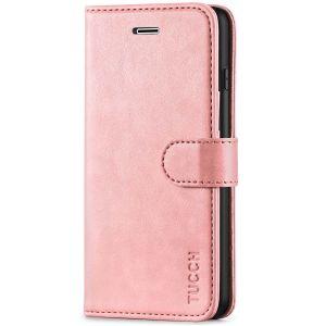 TUCCH iPhone 8 Plus Wallet Case, iPhone 7 Plus Case, Premium PU Leather Flip Folio Case - Rose Gold