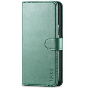 TUCCH iPhone XS Wallet Case, iPhone X / XS Leather Cover, Auto Sleep/Wake up, Magnet Clasp, Stand - Myrtle Green