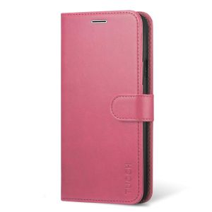 TUCCH iPhone XS Wallet Case, iPhone X / XS Leather Case Cover, Auto Sleep/Wake up, Stand, Magnet Clasp - Hot Pink