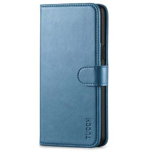 TUCCH iPhone XS Max Wallet Case, iPhone XS Max Leather Cover, Auto Sleep/Wake up, Magnet Clasp, Stand-Lake Blue