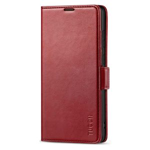 TUCCH SAMSUNG Galaxy Note20 Ultra Wallet Case, SAMSUNG Note20 Ultra 5G Flip Cover Dual Clasp Tab-Dark Red