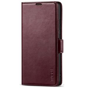 TUCCH SAMSUNG Galaxy S21 Ultra Wallet Case, SAMSUNG S21 Ultra Flip Case 6.8-inch - Wine Red