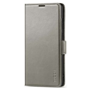TUCCH SAMSUNG Galaxy Note20 Wallet Case, SAMSUNG Note20 5G Flip Cover Dual Clasp Tab-Grey