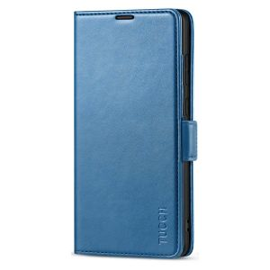 TUCCH SAMSUNG Galaxy Note20 Wallet Case, SAMSUNG Note20 5G Flip Cover Dual Clasp Tab-Lake Blue
