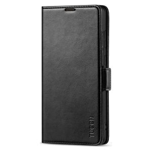 TUCCH SAMSUNG Galaxy Note20 Ultra Wallet Case, SAMSUNG Note20 Ultra 5G Flip Cover Dual Clasp Tab-Black