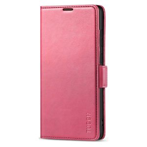 TUCCH SAMSUNG Galaxy Note20 Ultra Wallet Case, SAMSUNG Note20 Ultra 5G Flip Cover Dual Clasp Tab-Hot Pink