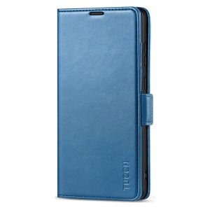 TUCCH SAMSUNG Galaxy S21 Ultra Wallet Case, SAMSUNG S21 Ultra Flip Case 6.8-inch - Lake Blue