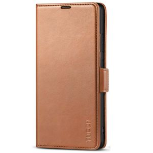 TUCCH SAMSUNG Galaxy S21 Ultra Wallet Case, SAMSUNG S21 Ultra Flip Case 6.8-inch - Light Brown