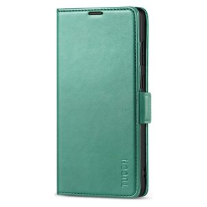 TUCCH SAMSUNG Galaxy Note20 Ultra Wallet Case, SAMSUNG Note20 Ultra 5G Flip Cover Dual Clasp Tab-Myrtle Green