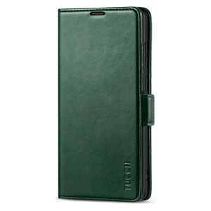 TUCCH SAMSUNG Galaxy Note20 Ultra Wallet Case, SAMSUNG Note20 Ultra 5G Flip Cover Dual Clasp Tab-Midnight Green