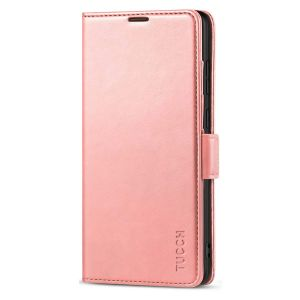TUCCH SAMSUNG Galaxy Note20 Ultra Wallet Case, SAMSUNG Note20 Ultra 5G Flip Cover Dual Clasp Tab-Rose Gold
