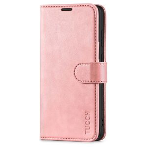 TUCCH SAMSUNG GALAXY S20FE Wallet Case, SAMSUNG S20FE Flip Case 6.5-inch - Rose Gold
