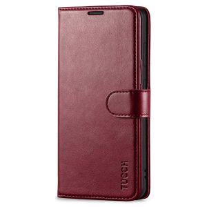 TUCCH SAMSUNG GALAXY S20FE Wallet Case, SAMSUNG S20FE Flip Case 6.5-inch - Wine Red