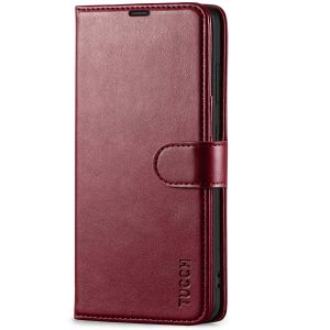 TUCCH SAMSUNG GALAXY S21 Wallet Case, SAMSUNG S21 Flip Case 6.2-inch - Wine Red