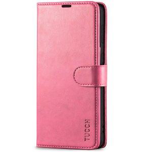 TUCCH SAMSUNG GALAXY S21 Wallet Case, SAMSUNG S21 Flip Case 6.2-inch - Hot Pink