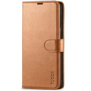 TUCCH SAMSUNG GALAXY S21 Wallet Case, SAMSUNG S21 Flip Case 6.2-inch - Light Brown