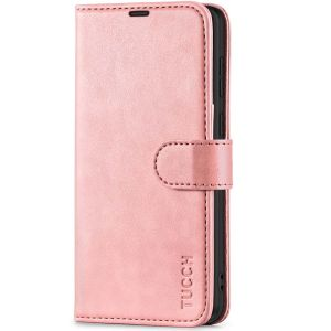 TUCCH SAMSUNG GALAXY S21 Wallet Case, SAMSUNG S21 Flip Case 6.2-inch - Rose Gold