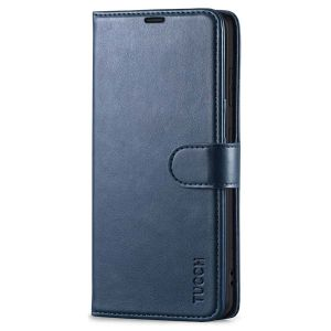 TUCCH SAMSUNG S21FE Wallet Case, SAMSUNG Galaxy S21 FE Case with Magnetic Clasp - Dark Blue
