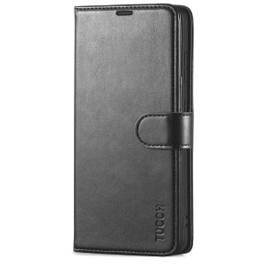 TUCCH SAMSUNG S21FE Wallet Case, SAMSUNG Galaxy S21 FE Case with Magnetic Clasp - Black