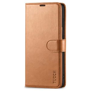 TUCCH SAMSUNG S21FE Wallet Case, SAMSUNG Galaxy S21 FE Case with Magnetic Clasp - Light Brown