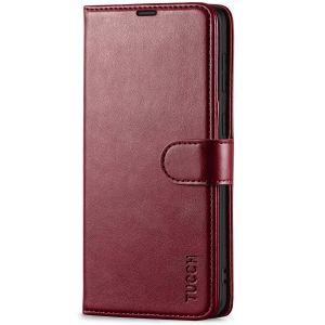 TUCCH SAMSUNG GALAXY S21 Plus Wallet Case, SAMSUNG S21 Plus Flip Case 6.7-inch - Wine Red