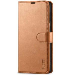 TUCCH SAMSUNG GALAXY S21 Plus Wallet Case, SAMSUNG S21 Plus Flip Case 6.7-inch - Light Brown