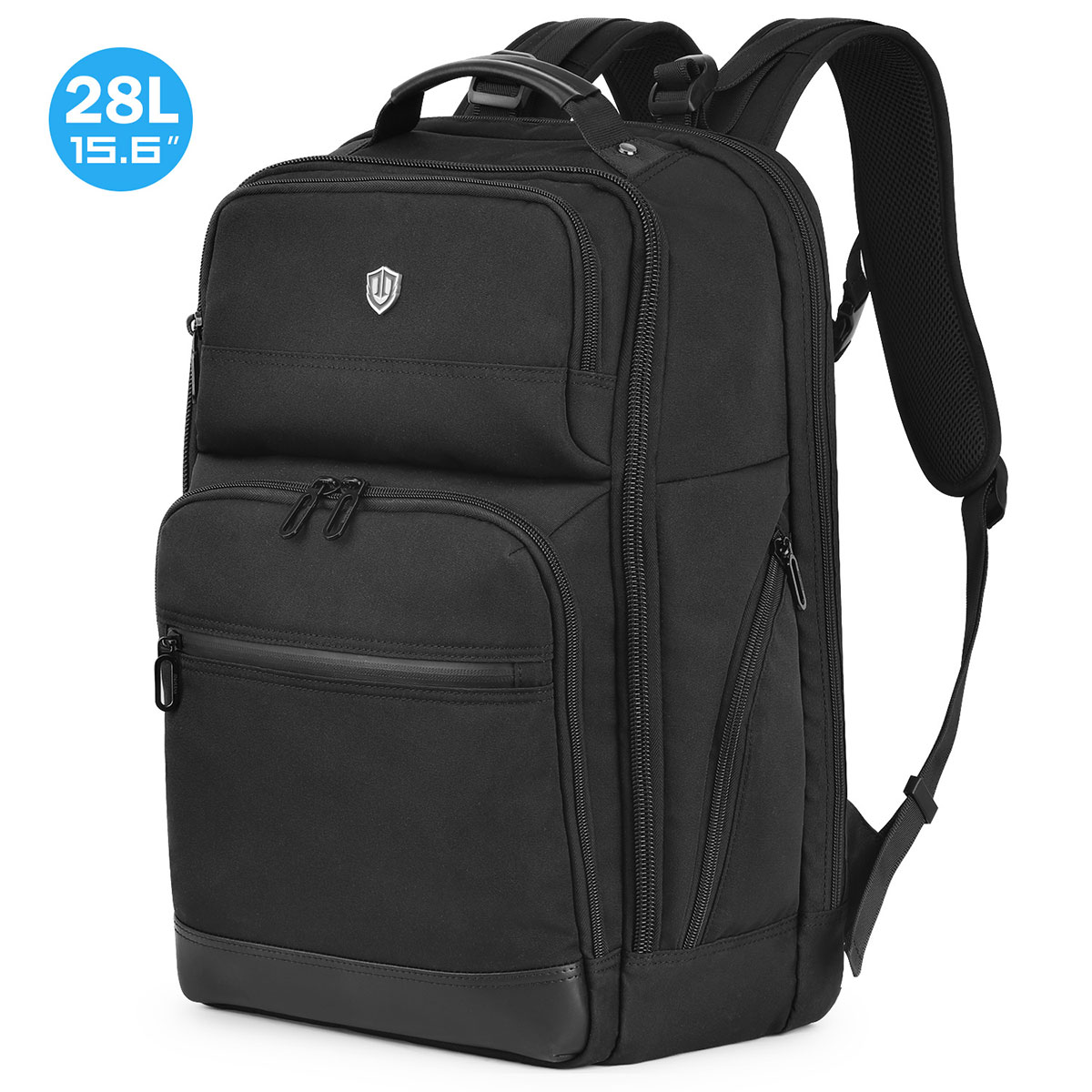 SHIELDON 15.6-inch Laptop Backpack, 28L Large Business Travel Laptop Backpack Anti-Theft with RFID Blocking Pocket, Water Resistant Computer Backpack College High School Bag for Boys & Men