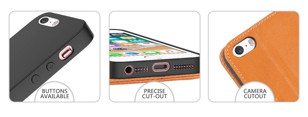 SHIELDON iPhone 5 Genuine Flip Case