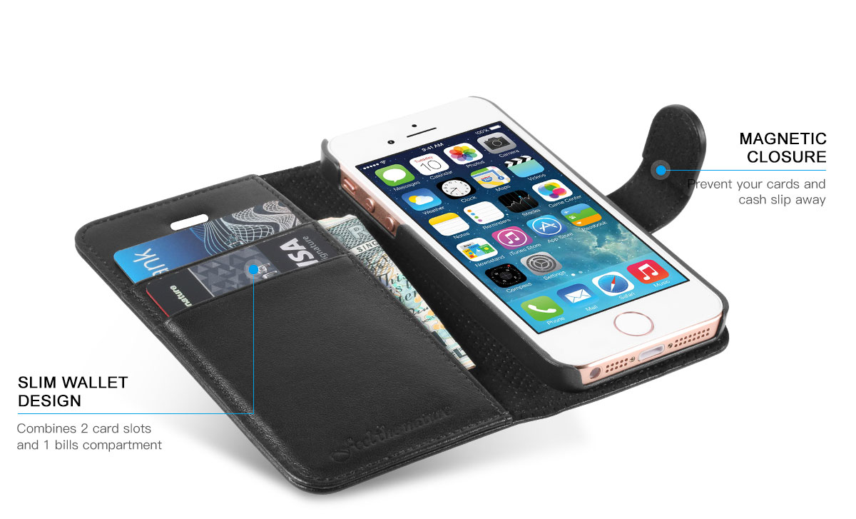 SHIELDON iPhone 5 Genuine Flip Case