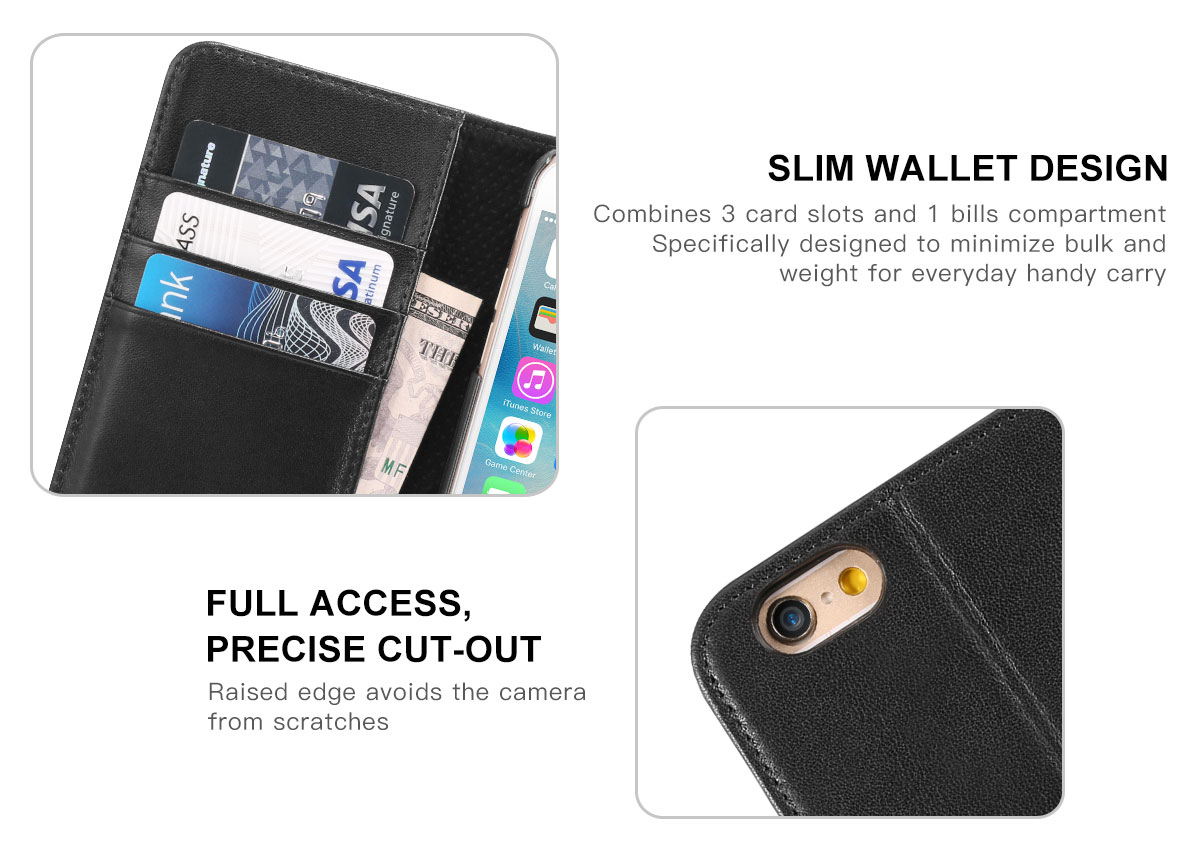 SHIELDON iPhone 6 Phone Cover Genuine Leather Case