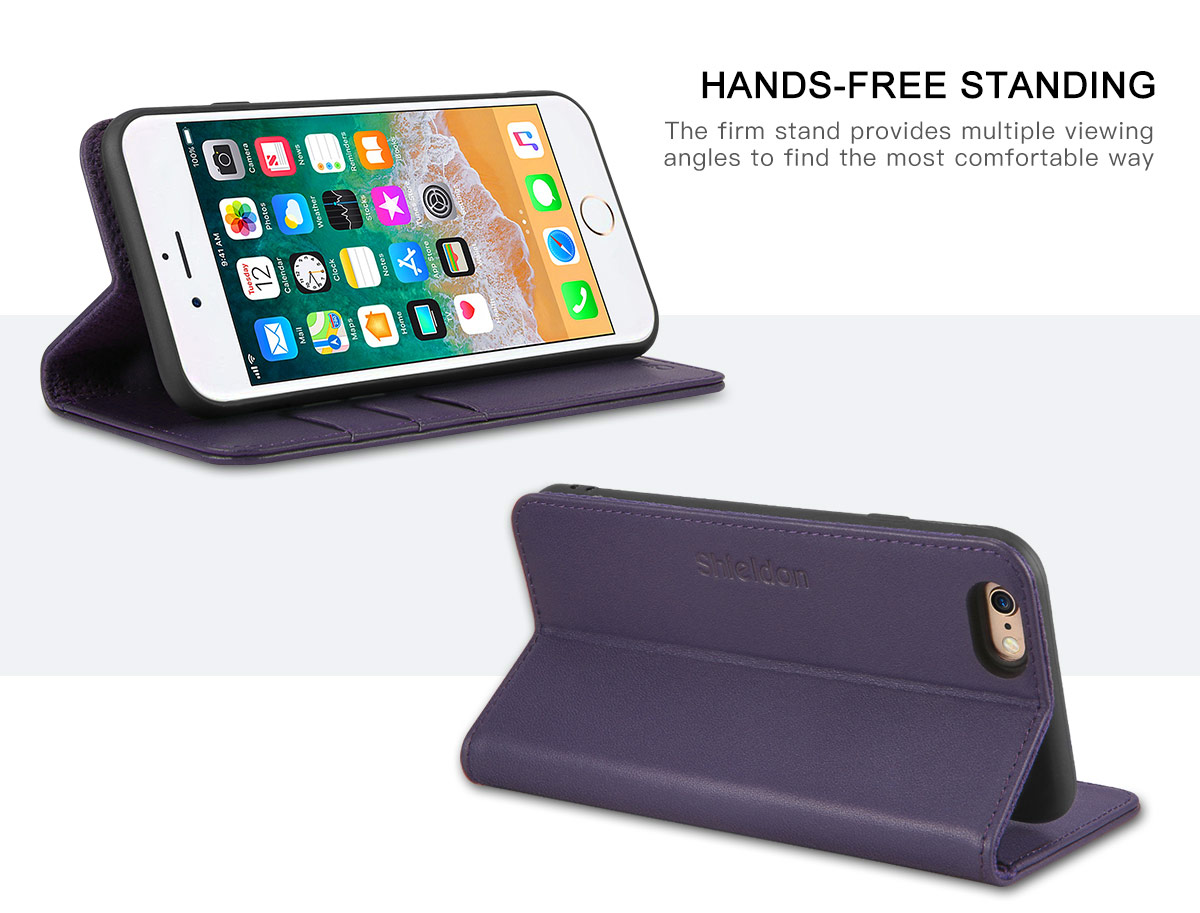 SHIELDON iPhone 6S Wallet Phone Case with TPU Kinstand