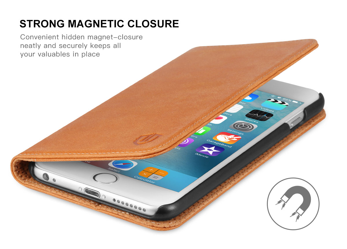 SHIELDON iPhone 6S Plus Genuine Book Case