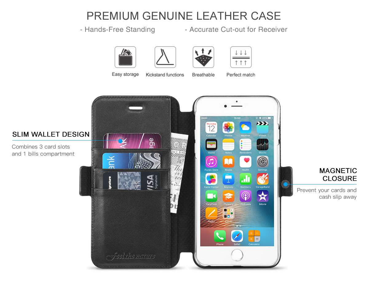 SHIELDON iPhone 6S Plus Genuine Leather Case